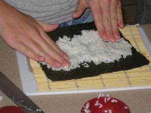 "Is ""Making Sushi at Home"" on your wish list for camp? (not on my list!)"