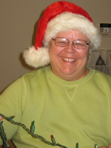 Pam with Christmas Lights