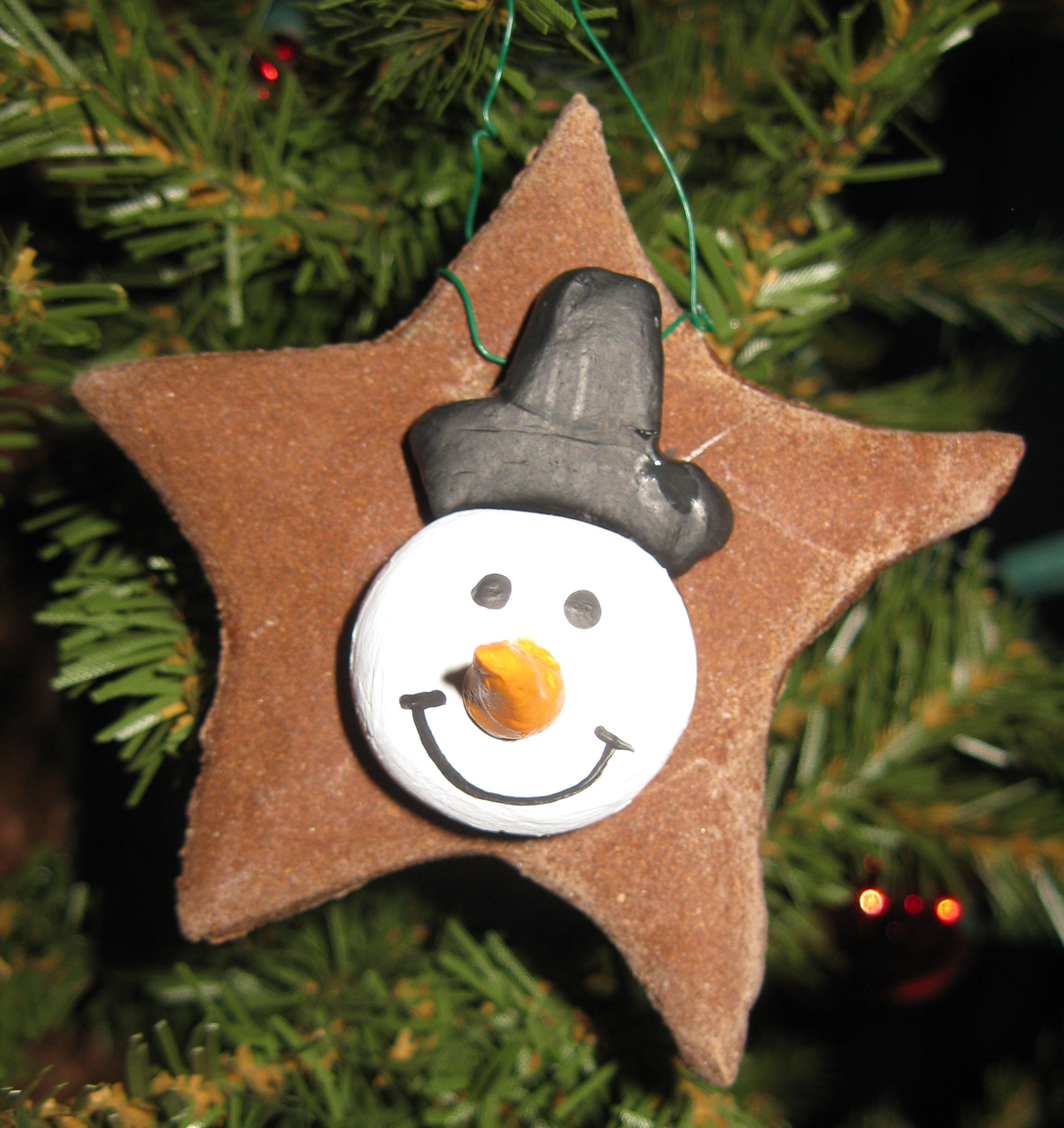 Types of home made ornaments using decoupage dough clay amp fabric