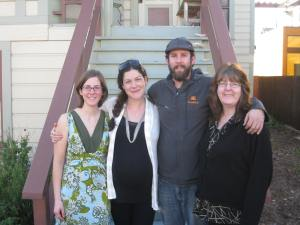 Photograph of the family: Elizabeth (daughter), Daniella (daughter-in-love), Timothy (son), Susan (me)