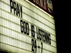And Listen . . . God is speaking as well.