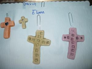 I love how each cross is so distinctly different. These are made from another student in the 4th/5th grade class.