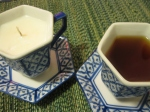 In fact my daughter and I repurposed 2 teacups. She filled the blue cup and I filled the flowered one.