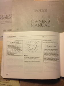 Day 7: Reading the Owner's Manual . . . Have you ever read your manual?