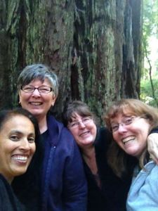 Here I am with friends from seminary.. Left to Right: Hardeep, Janet, Susan (me), Janelle