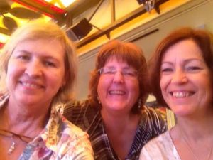 Marsha, Susan (me), and Giillian:We've been friends for years. But we;ve been birthday lunching for only several years.