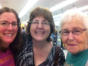 Elizabeth, Susan (me), and Mary: Mary has been a family friends for 30+ years.