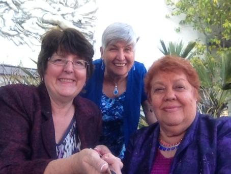 Photo of me (holding the stick), Nancy (Daniella's aunt) and Nora (Daniella's mom).