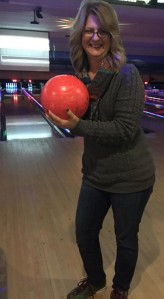 Laughter and bowling are a good mix.