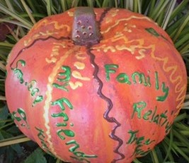 My version of the prayer pumpkin